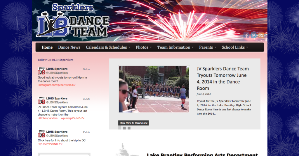 Web Design and Social Media Integration lbhsdanceteams.org